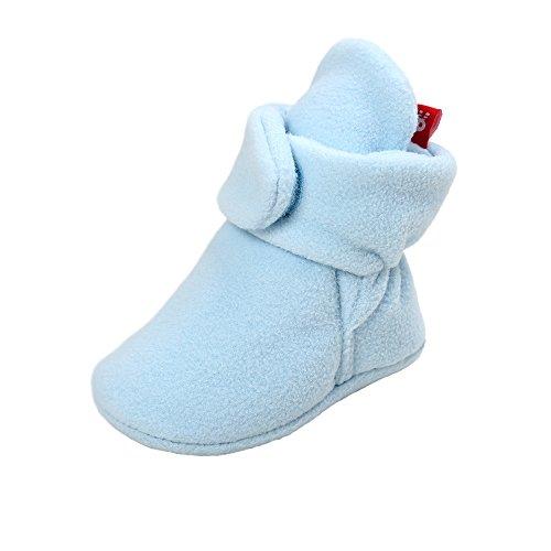 Allence Unisex Neugeborenes Schneestiefel Weiche Sohlen Streifen Bootie Kleinkind Stiefel Niedlich Stiefel Socke Einstellbar -