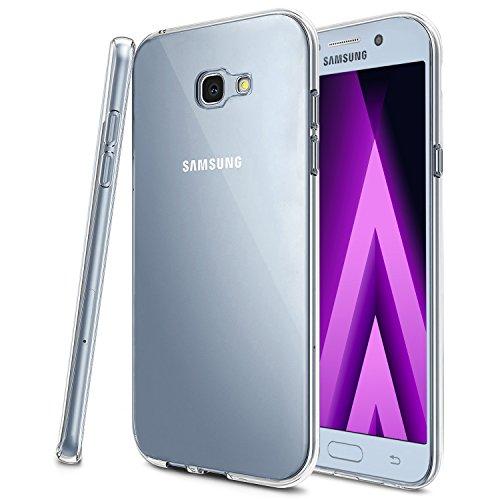 Preisvergleich Produktbild Samsung Galaxy A5 (2017) Hülle, KKtick Transparente Kratzfeste Schutzhülle Crystal Clear Bumper Premium TPU Silikon Durchsichtige Handyhülle für Samsung Galaxy A5 (2017) 5.2 Zoll Case Cover