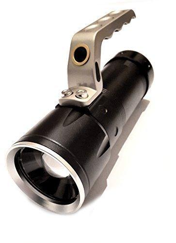 Preisvergleich Produktbild Cree LED Taschenlampe zoom Suchlicht 400 Meter 6800 Lumen XML-T6 2x Akku Flashlight Schwarz