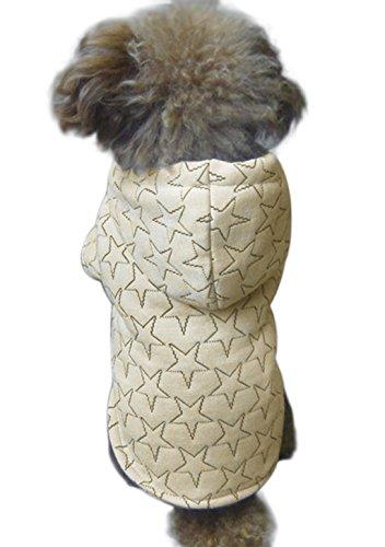 FakeFace Hundemantel Hundejacke aus Baumwolle Sterne Motiv Hundepullover mit Kapuze Hunde Winter Herbst warme Hundebekleidung Hunde Kostüm Kleidung- Gr. S, (Smarties Kostüme)
