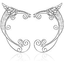 Aifeer - Juego de 2 pendientes para disfraz de Elf Ear Cuffs, 1 par de