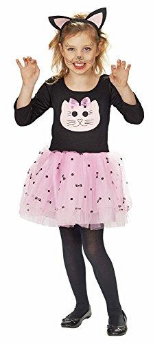 Katze Sweet Cat Kostüm für Mädchen Gr. 104 - Tolles Tierkostüm für Kinder zu Karneval oder (Hello Kostüme Kitty)