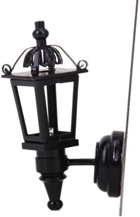 Métal Bronze 01:12 Maison De Poupée Miniature Conduit Lampe De Bureau Avec