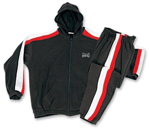 M.A.R International Ltd. Track Suit Sport Uniform Anzug Outfit Kleidung Gear Martial Arts XL schwarz Fleece Track Jacke Kinder