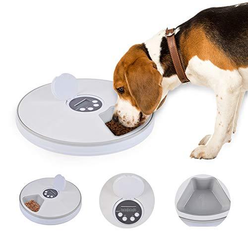 FOONEE Pet Feeder 6-Mahlzeiten Futterautomat, Zeitgesteuerte Futterautomat für Katzen, Hunde und Kaninchen, Trockener Oder Halbfeuchter Welpe / Kätzchen / Häschen-Futterspender