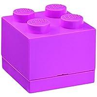 Lego RCL MB4 PU Mini Box 4, Plastica, 4.6 x 4.6 x 4.3 cm, Rosa