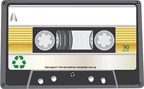 Audio Cassette High Quality 90 Alta Calidad De Coche De Parachoques Etiqueta Engomada 12 x 10 cm
