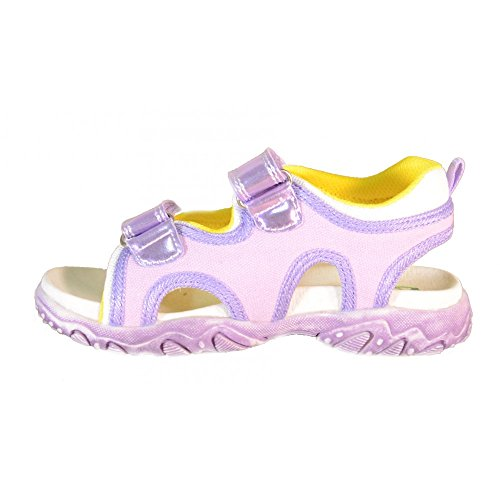 Naturino - Naturino Sandales Petite Fille Violet Cuir Toile Sport 439 Violet