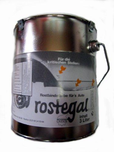 Auto-Rostegal Rostbindefarbe 3,0 Liter - schwarz