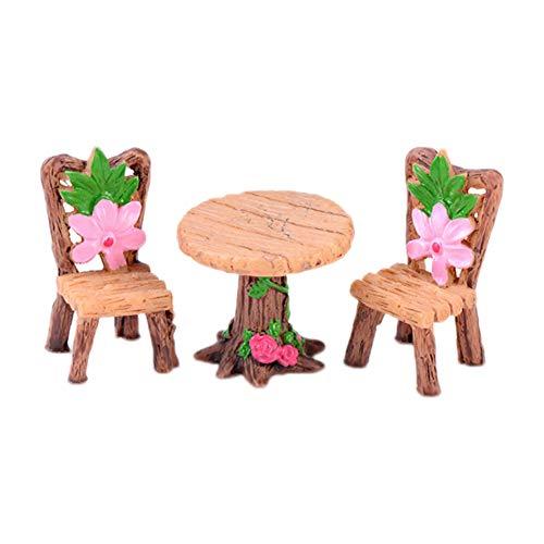 Décoration de table miniature de jardin de fée Cratone - Accessoires de bricolage - Plantes - Décoration de maison de poupée - Pot de fleurs succulents, D, 2.2 * 4.1cm