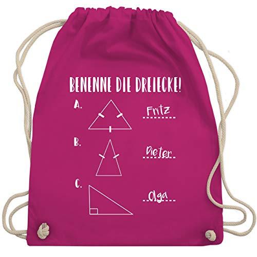 Lehrer - Benenne die Dreiecke! - Unisize - Fuchsia - WM110 - Turnbeutel & Gym Bag