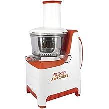 Windirect Power Press Juicer Exprimidor 250 W, Blanco y naranja