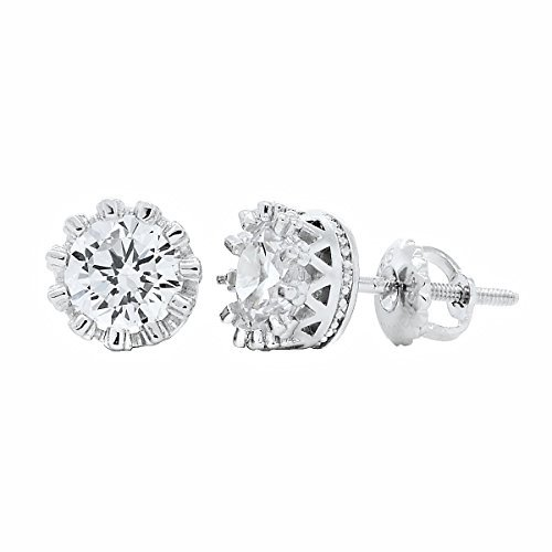1000jewels-damen-austin-5mm-10ct-russische-ice-on-fire-cz-krone-set-schraubverschluss-ohrringe-925st