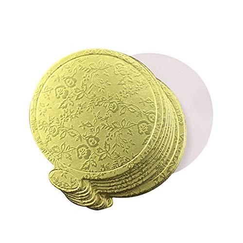Demarkt Cake Board Rund, Kuchenbretter aus Karton, für Mousse, Cupcakes, Dessert, 9 cm, 100 Stück 9 Dessert