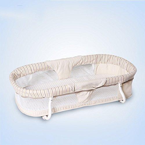 QFFL tilan Baby-Korb-Rattan-Einkaufskorb-Auto-Erschütterungs-Schlafkorb gehen Baby-Artefakt-Krippe 81 * 43.2 * 20.5cm hinaus (2 Rattan-speicher-körbe)