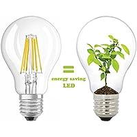 A60 E27 8W LED lampadine Vintage Edison stile 800LM 2700K bianco caldo, 80W equivalenti a incandescenza [classe energetica A + +]