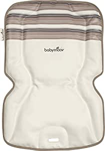 Babymoov Coussin Confort Chaise Haute Rayures Ivoire