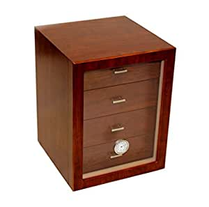 humidor schrank f r 100 zigarren 4 schubladen k che haushalt. Black Bedroom Furniture Sets. Home Design Ideas