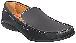 Action Shoes Mens Black Leather Casual Shoes 9 UK