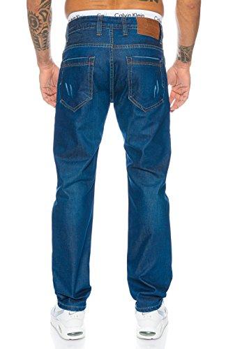 Rock Creek Herren Jeans Hose Denim Stretch Jeanshose Stonewashed W29-W44 Blau LL-398