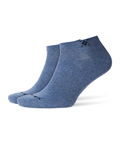Burlington Herren Everyday 2-pack Sneakersocken, Blickdicht, Blau, 40-46 (2er Pack) -