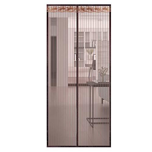 BCLGCF Magnetische Tür, Magnetische Mesh-Freisprech-Magnet-Off-Screen-Tür, Schwerer Mesh-Vorhang, Selbstklebender Klettverschluss, Halten Fliegende Insekten Fern,90X220cm -