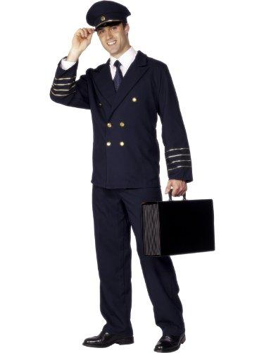 Erwachsene Army/Navy/Air Forces Kostüm Piloten Kostüme Brust 106.68 cm-Bein, 111.76 cm 83.82 cm (Pilot Kostüme Air)