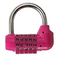 uyhghjhb English Alphabet Password Lock Lock 5 Letter Code Word Combination Dial Password Luggage Bag Padlock Pink