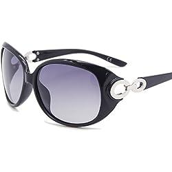 AMZTM Klassisch Retro Polarisiert Damen Sonnenbrille Metall Knoten Frauen Brille