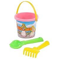 Polesie 511 219 Decorated, Shovel, Rake No.2-Sets: Flower Bucket, Small, Multi Colour