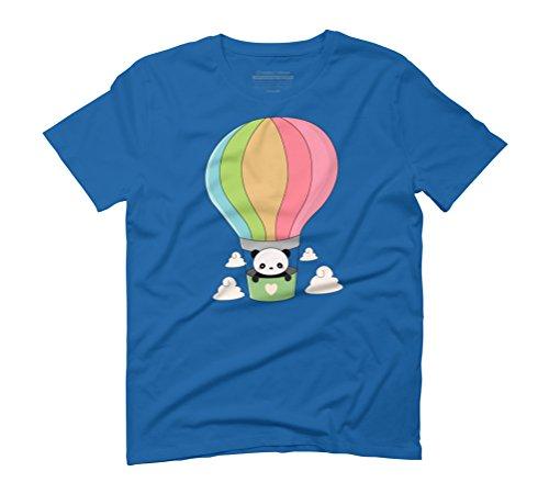 Cute Hot Air Balloon Panda Men's Graphic T-Shirt - Design By Humans Royal Blue
