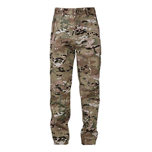 Reebow Gear Herren-Wanderhose Pro Action, wasserdicht, Softshell, warm, Fleece-gefüttert, Cargo-Hose, CP Camouflage, L (Camouflage-fleece-hose)