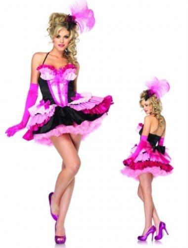 Kostüm Show Girl Adult - Leg Avenue 83853 - Flirty Flamingo Kostüm, Größe M, schwarz/pink