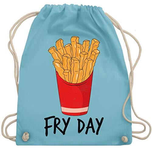 Statement Shirts - Fry Day - Pommes frites - Unisize - Hellblau - WM110 - Turnbeutel & Gym Bag