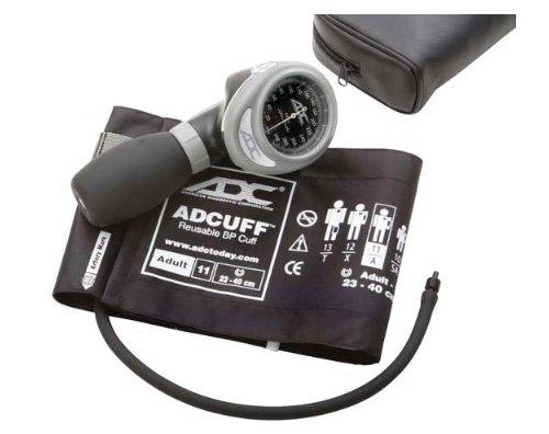 ADC Diagnostix 703 Palm Style Aneroid-Blutdruckmessgerät mit Adcuff-Nylon-Blutdruckmanschette, Erwachsene - Erwachsene Blutdruckmanschette