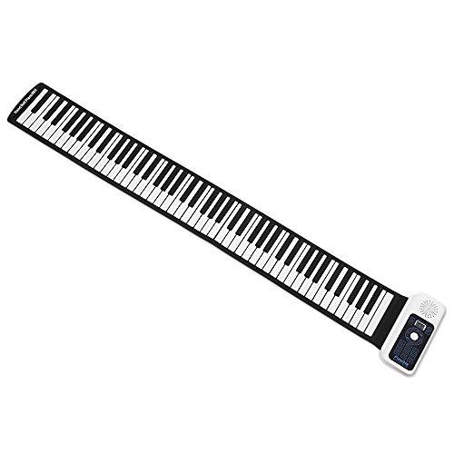 SHOUBANKS Hand Rolle Elektronisches Klavier 88 Schlüssel Silikon Tastatur 66-Taste Hand Rolle Tastatur Hand Rolle Klavier Mit Lauter Lautsprecher Batterie ODER USB Powered (Farbe : 88 keys white)