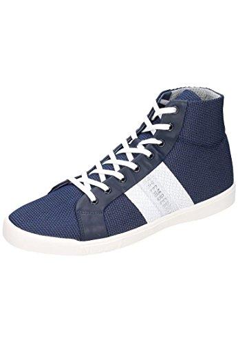 Bikkembergs Campus 737 M.Shoe M Fabric/Leather, Pompes à Plateforme Plate Homme Bleu - Bleu
