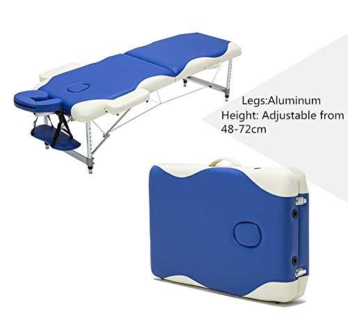Lfniu lettino da massaggio portatile lettino lettino in alluminio lettino da fisioterapia deluxe professionale leggero a 2 sezioni lettino per lettino beauty spa