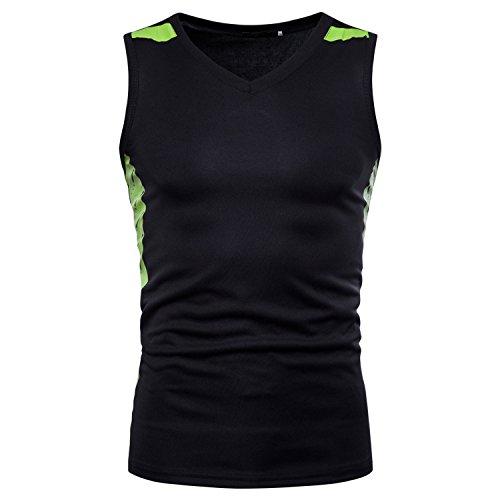 Libertepe Herren Funktionsshirt Sport Weste Tops Fitness T-Shirt ärmellos Schnell Trocknend Basketball Hemd Slim Fit