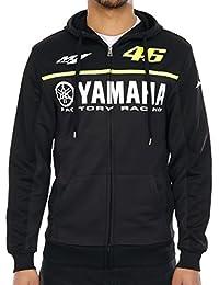 Sweat zippé à capuche Valentino Rossi Yamaha Line Noir
