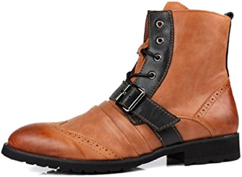 YXLONG Neue Männer Casual Schuhe England Trend Wilde Lederschuhe Leder Manuelle Fahr Schuhe Leder Herrenschuhe