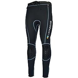 LayaTone Pantalon de Plongée Homme Femme Premium 2mm Pantalon en Néoprène Leggings de Surf Pantalons de Plongée en Néoprène Pantalons de Sports Nautiques Pantalon Pour Combinaison de Kayak de Natation