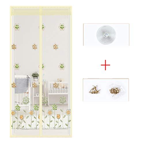 BYCDD Magnetvorhang BalkontüR, Hände frei Atmungsaktiv Insektenschutz Magnet Moskitonetze für Türen Funktioniert,Beige_47x87in/120x220CM