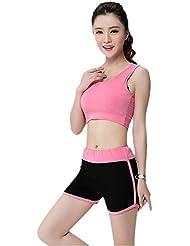 Generic Traje Yoga---Aptitud para mujer chaleco sujetador los deportes y cortocircuitos
