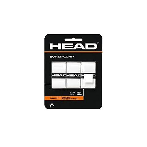 Head Lot de 3 surgrips Super Comp pour raquette de tennis Blanc blanc