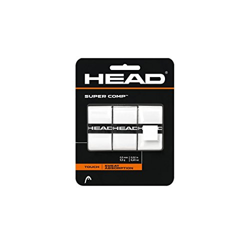 HEAD Super Comp Griffband, Unisex, weiß, 3 Pack