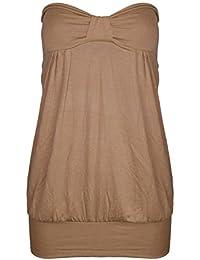Fast Fashion – Haut Plus Le Plaine Taille Sans Bretelles L'avant Knot Proue Bandeau - Femmes