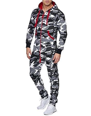 Violento - Combinaison camouflage gris homme - Gris - L