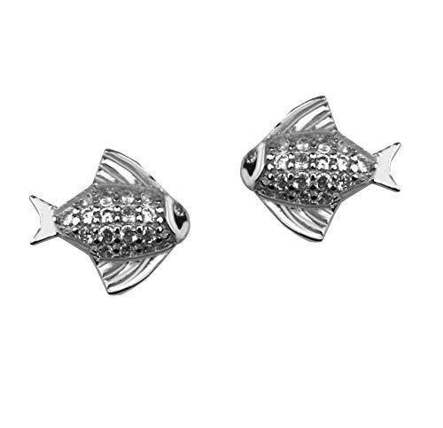 SOFIA MILANI Damen Ohrringe Ohrstecker Fisch Silber 20279