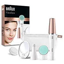 Braun FaceSpa 851V 3-in-1 Face Epilator/Epilation for Face Hair Removal and Cleansing Brush System
